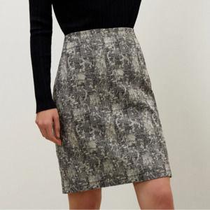 MM LaFleur The Noho Skirt Pencil Crackle Black 8